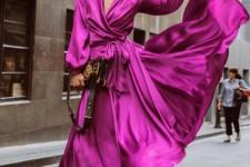 Фасоны платьев из шелка