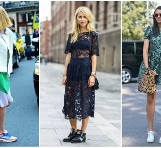 С какой обувью носить платье? Примеры в фото
