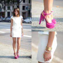 С какой обувью носить платье? Примеры