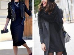 Варианты образов с черным платьем
