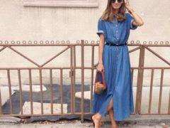 С чем носить длинное платье?