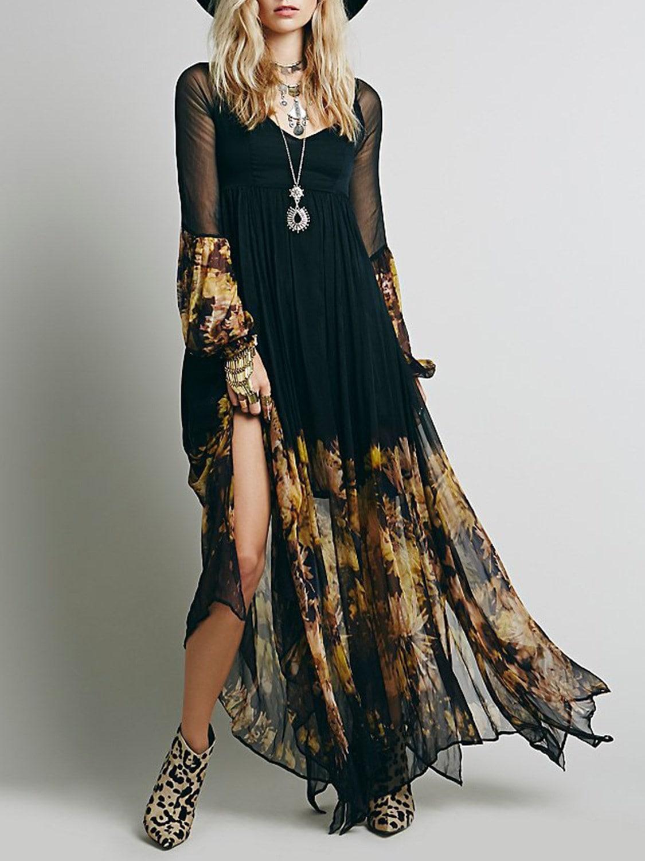 Платье из шифона бохо