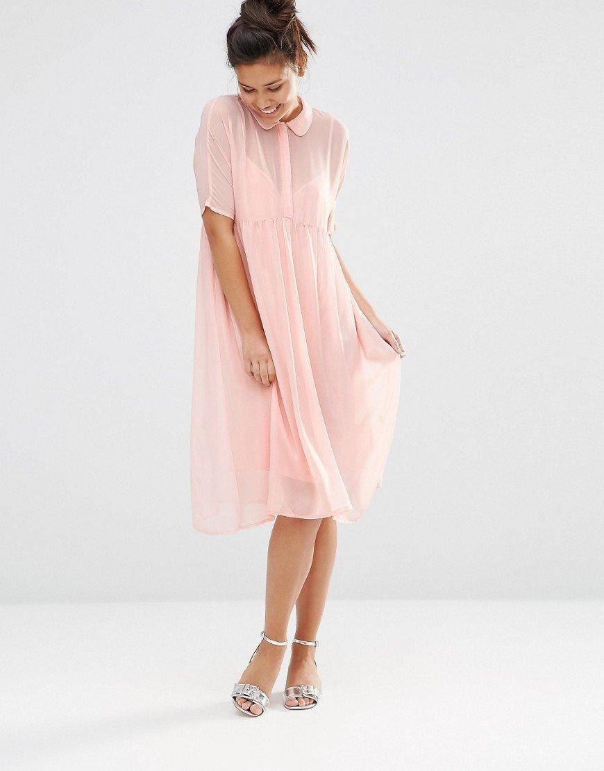 платье рубашка из шифона