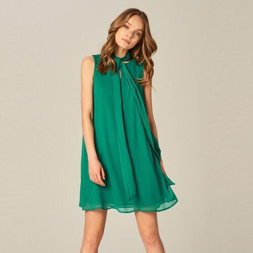 Платье из шифона с завязкой