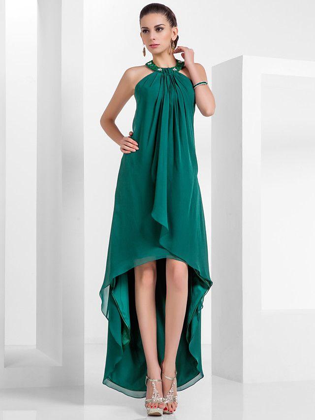 Платье из шифона асимметричное