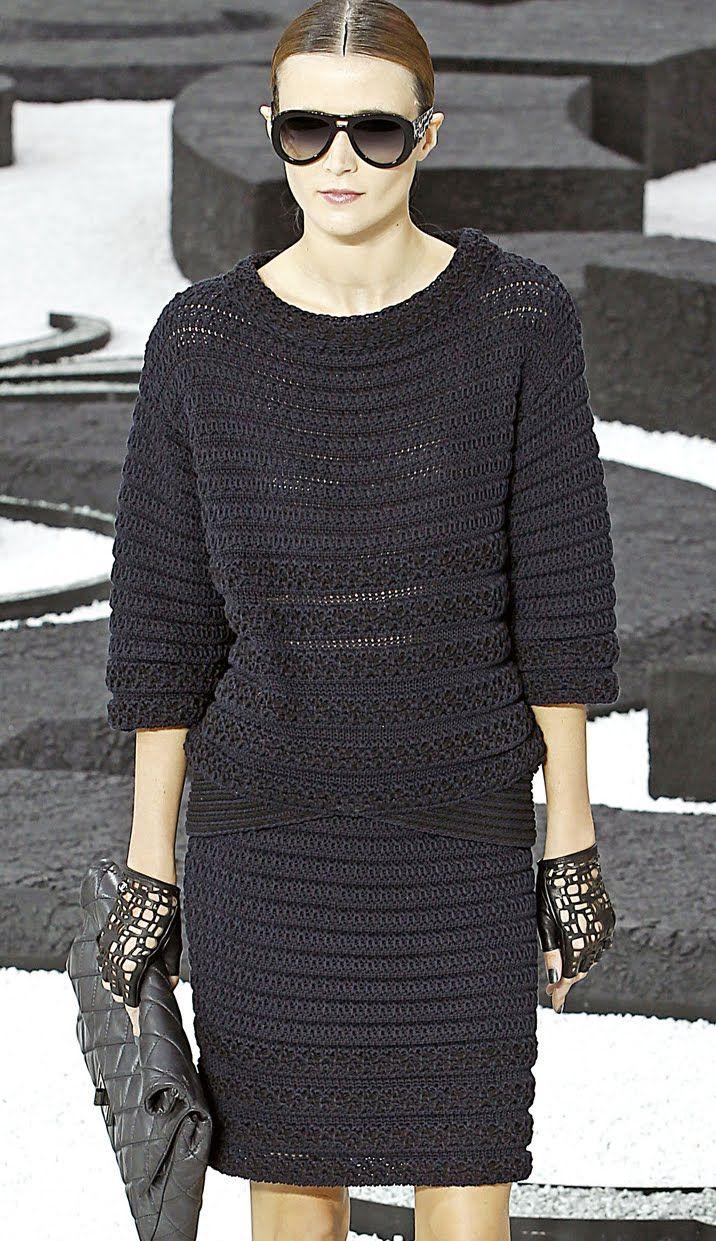 Платье Коко Шанель вязаное