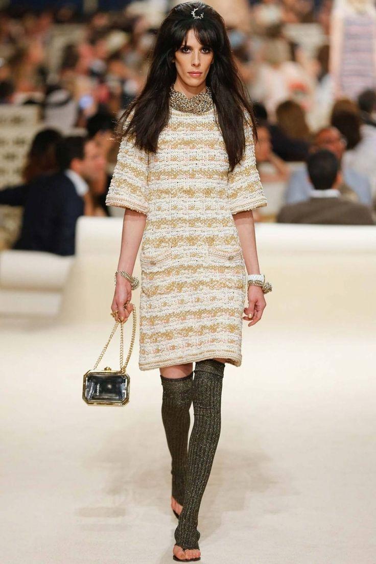 Коко Шанель полосатое платье