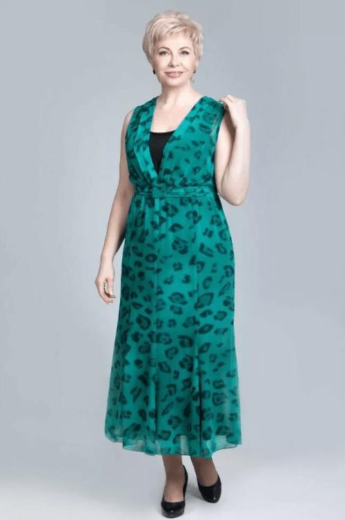 шифоновое платье для женщины 50 лет