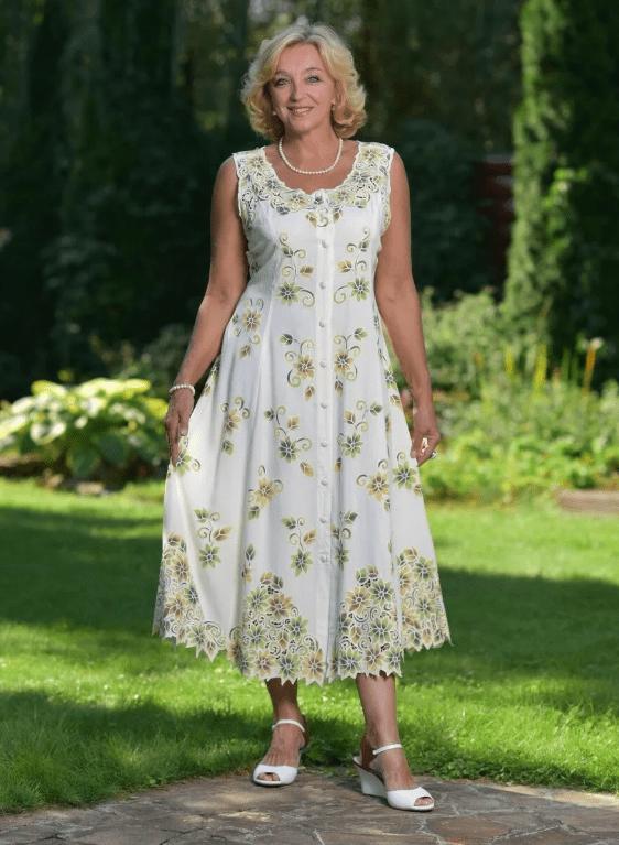 летнее платье для женщины 50 лет