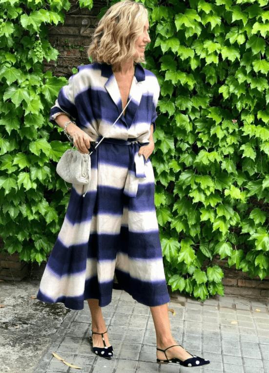 платье для женщины 50 лет в полосу