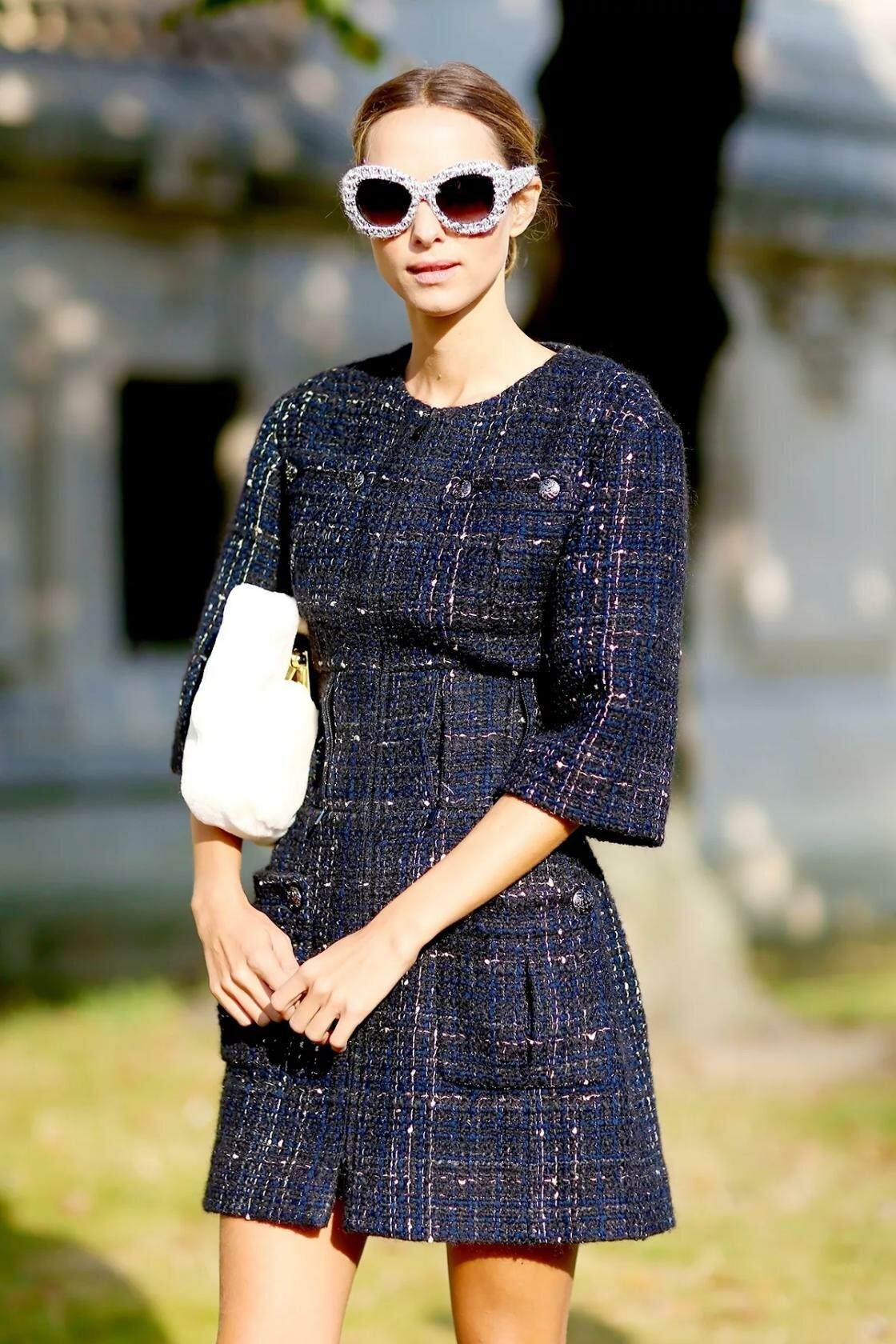 синее платье шанель