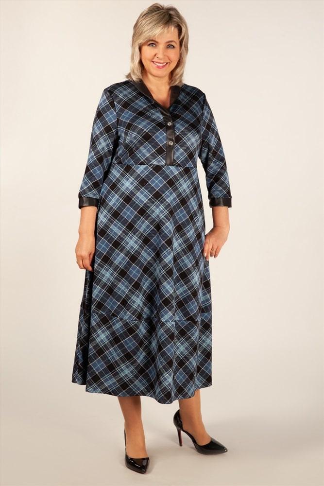 большое платье в клетку для женщины 50 лет