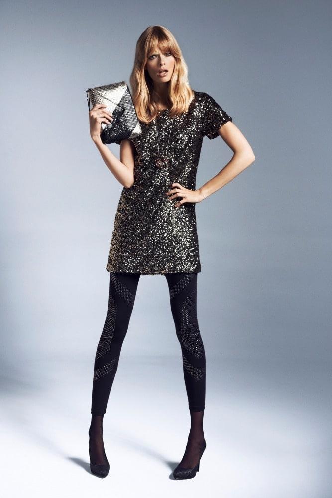 туника платье с пайетками