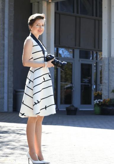 Платье сарафан в полоску