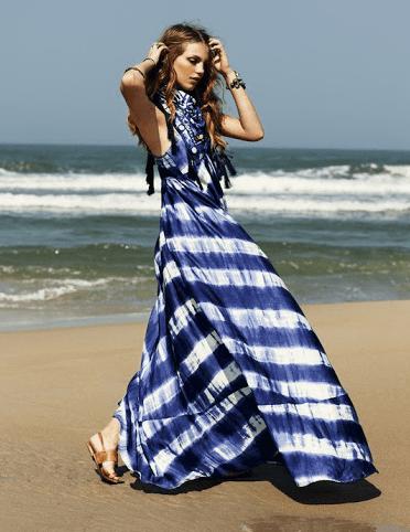 Макси платье в полосочку