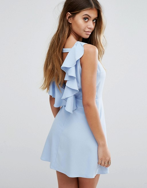 Платье Асос с волананами на спине