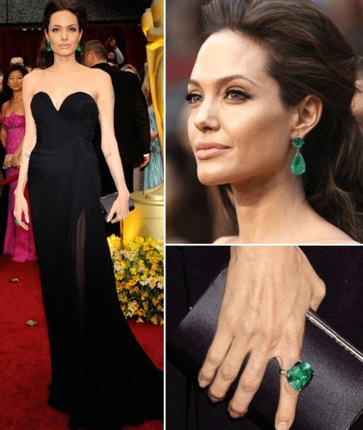 Джоли в черном платье