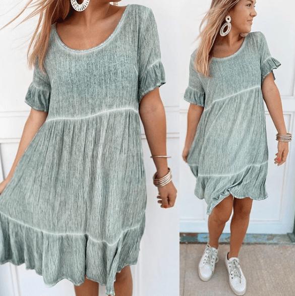 Бохо платье с кроссовками