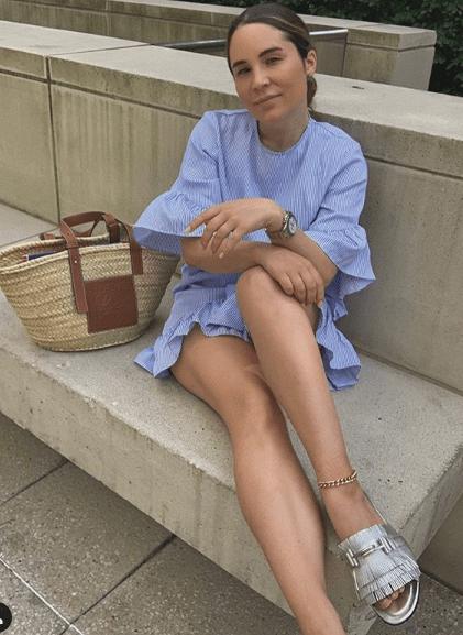 Платье короткое с волананами