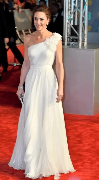 герцогиня кембриджская в белом платье