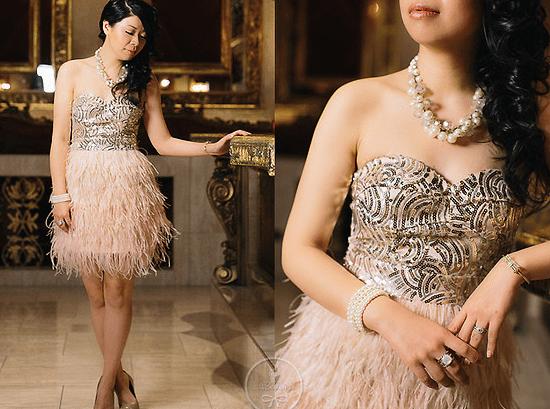 ожерелье с платьем