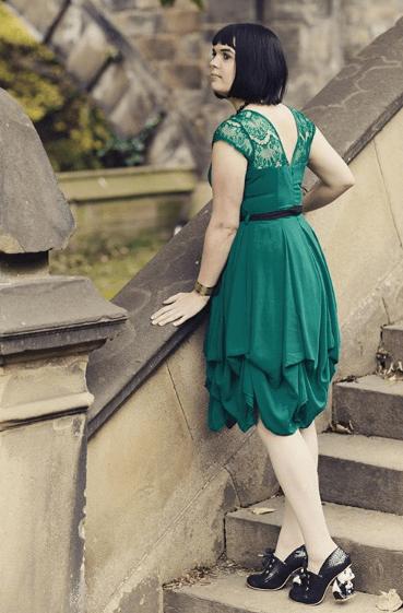 комбинированное кружевное платье
