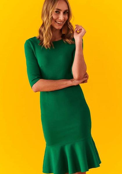 Платье с волананами по низу
