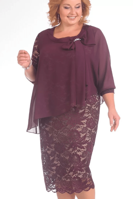 Платье для мамы на свадьбу с фигурой песочные часы