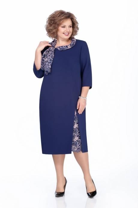 синее платье на свадьбу для мамы со вставками