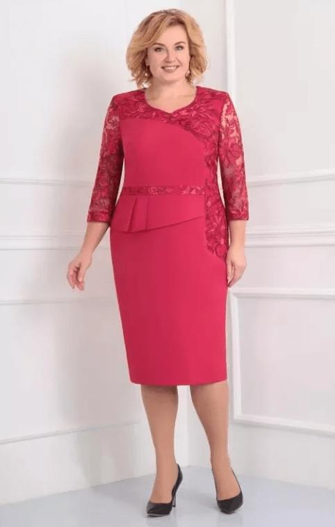 красное платье на свадьбу для мамы