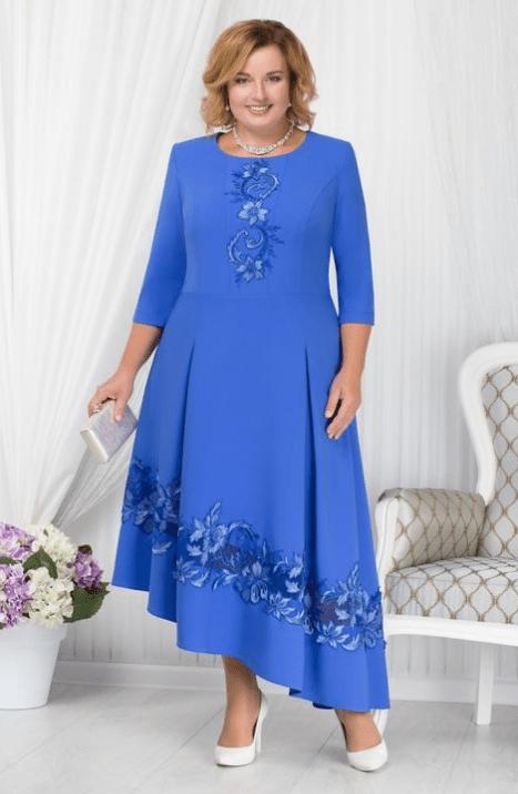 асимметричное платье на свадьбу для мамы
