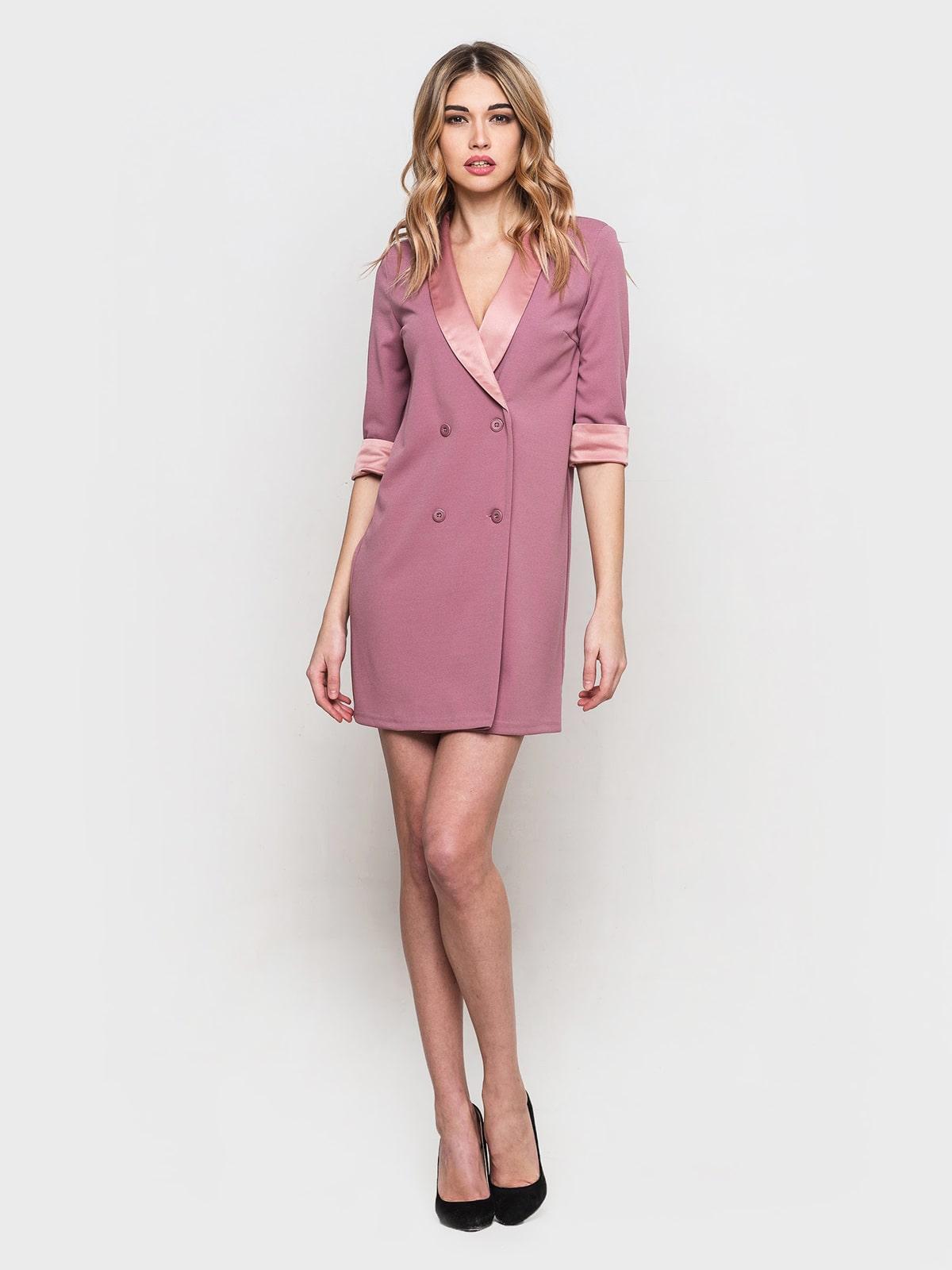 розовое платье пиджак