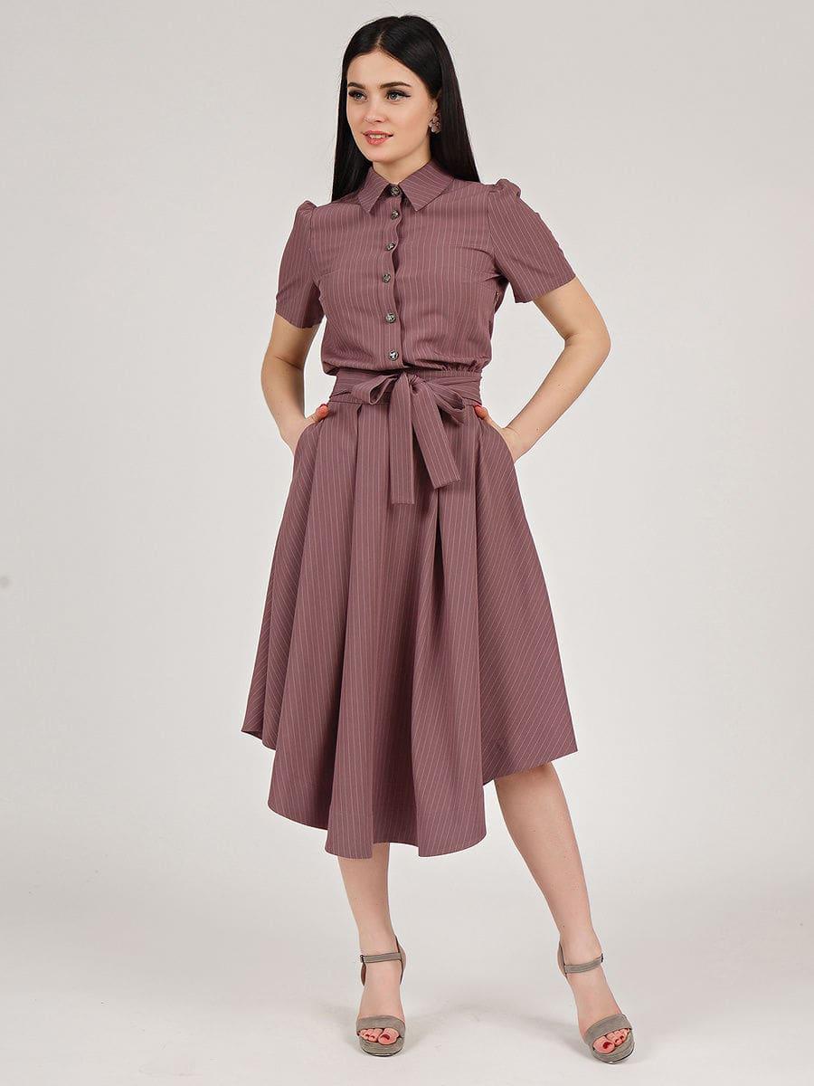 розово коричневое платье