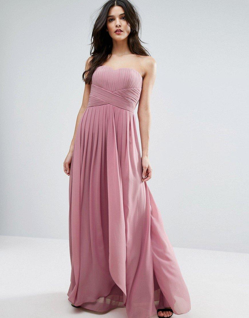 греческое платье розовое