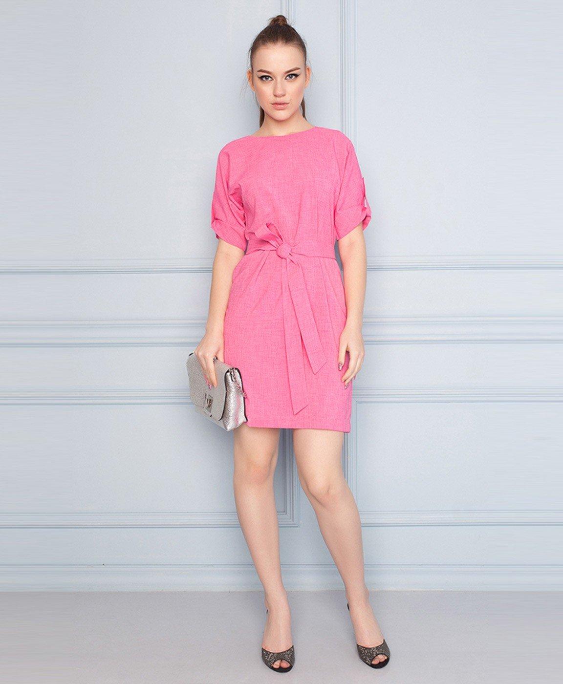 деловое платье розовое