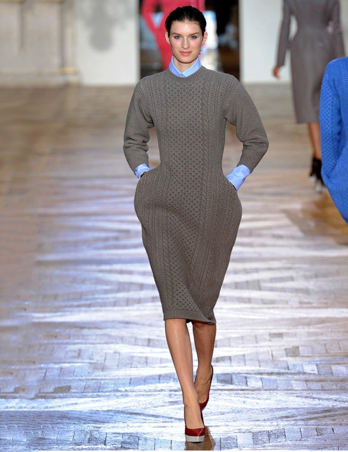 фактурное вязаное платье