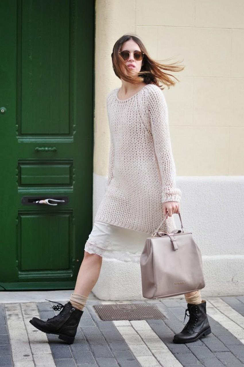 белое платье с шелковым низом