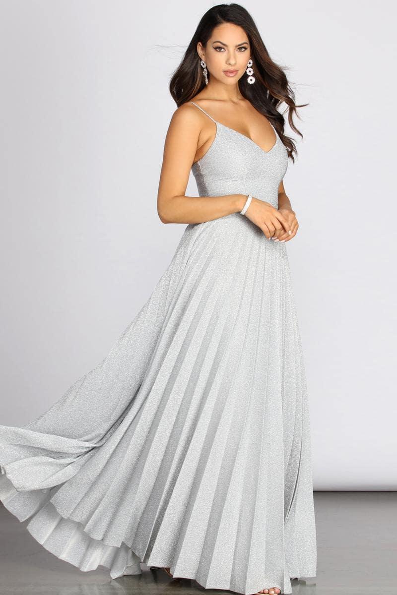 длинное платье с люрексом в пол