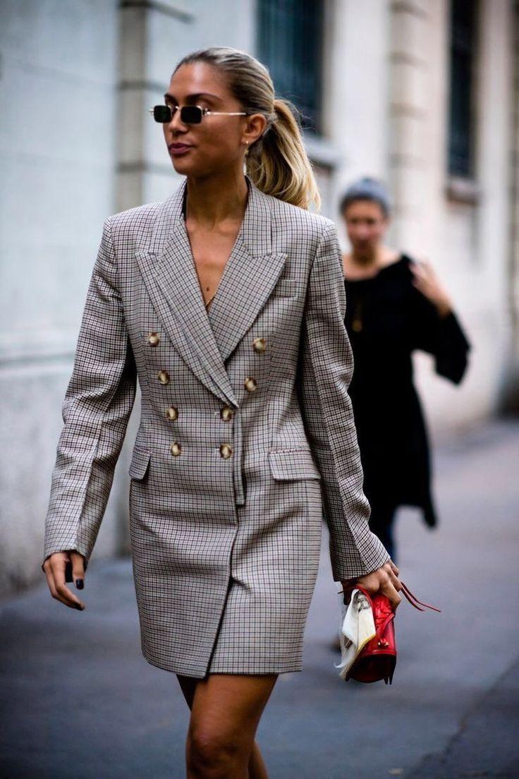 свободное платье пиджак