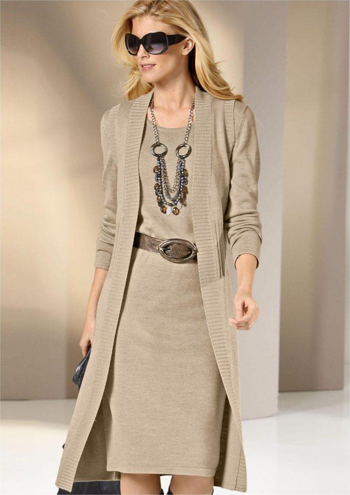 вязаное платье - украшения