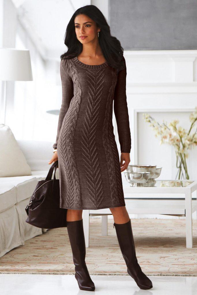вязаное платье русалка