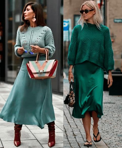 сумочки к образу со свитером и платьем