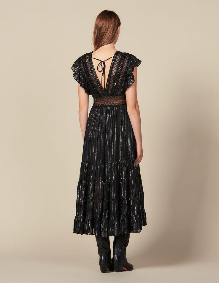 платье с люрексом с открытой спиной