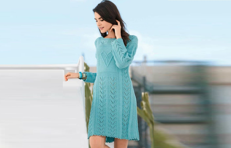 вязаное платье ампир