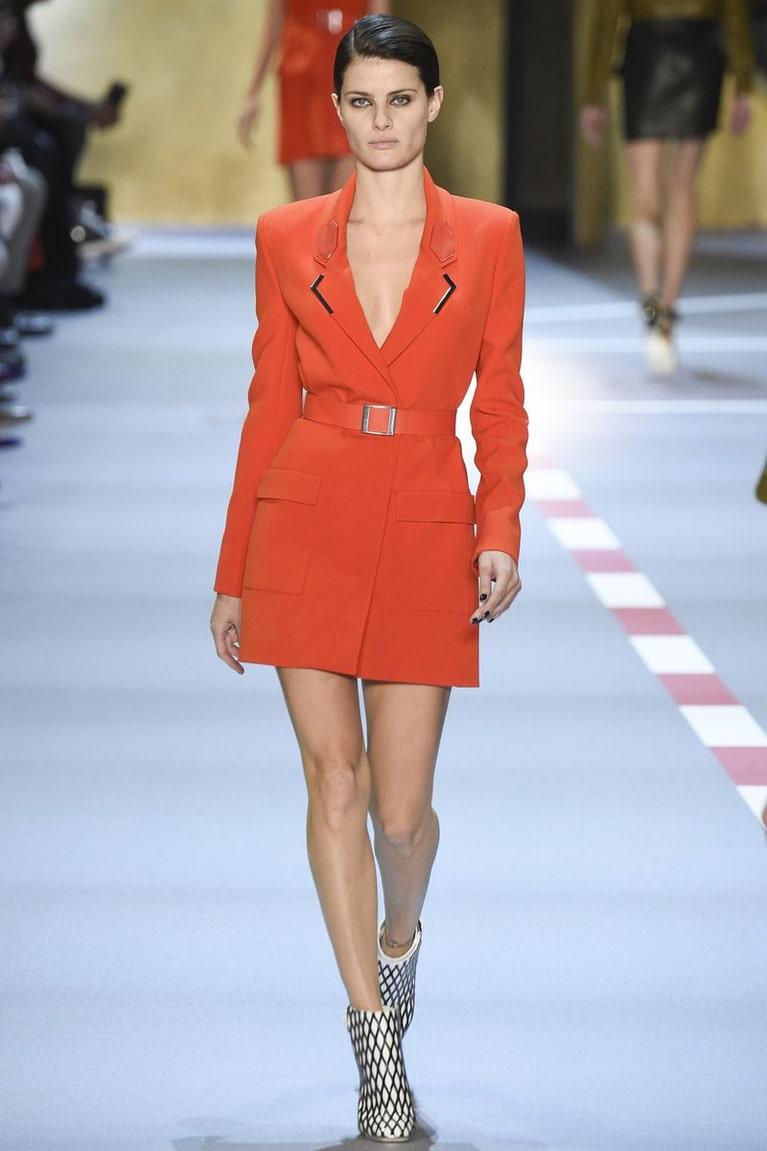 терркотовое платье пиджак