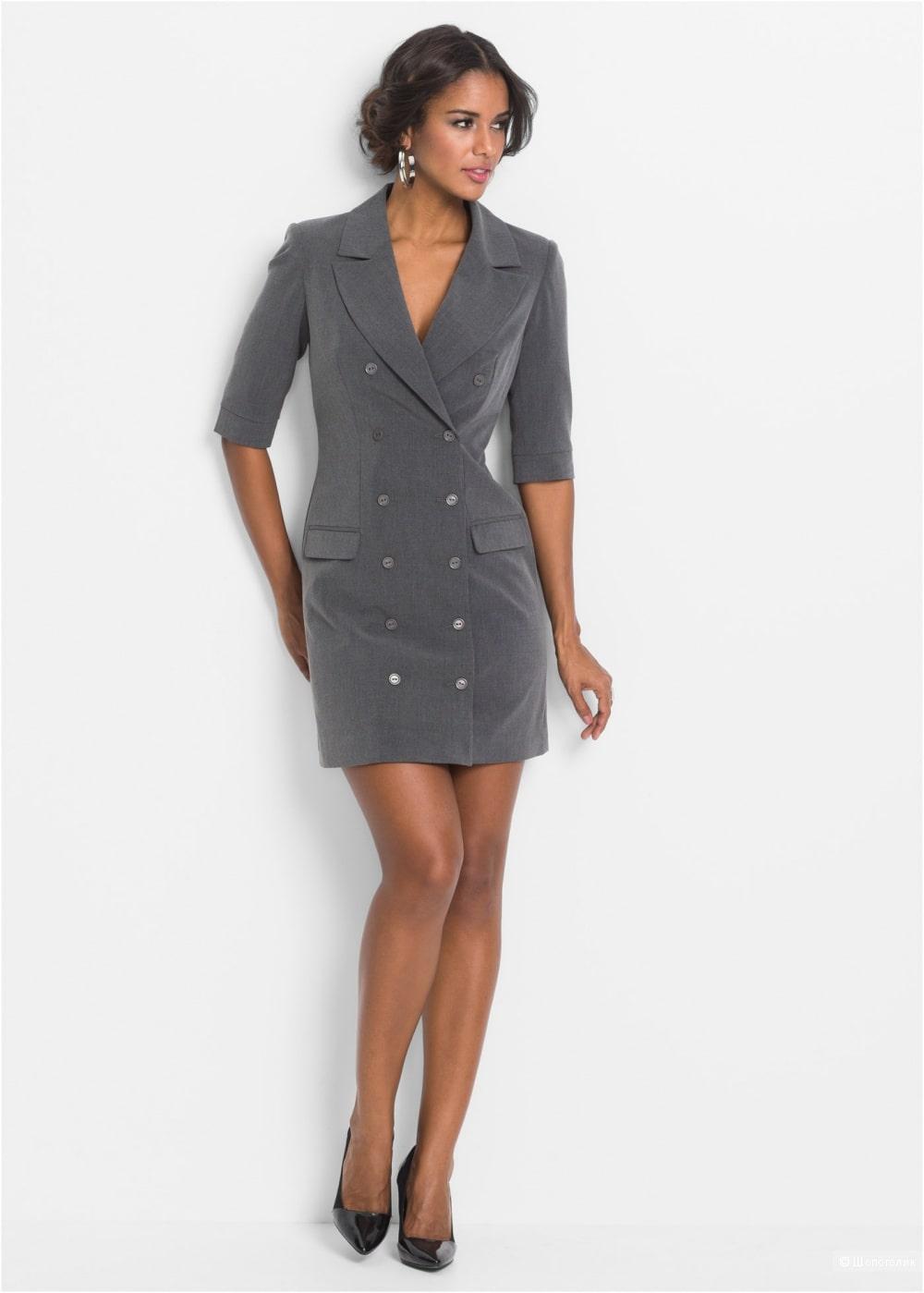 серое платье пиджак