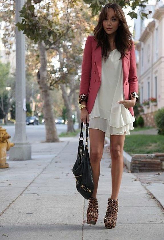 шифоновое платье с пиджаком