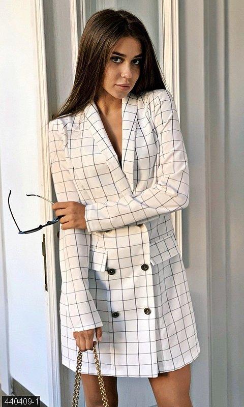 Платье пиджак в клетку