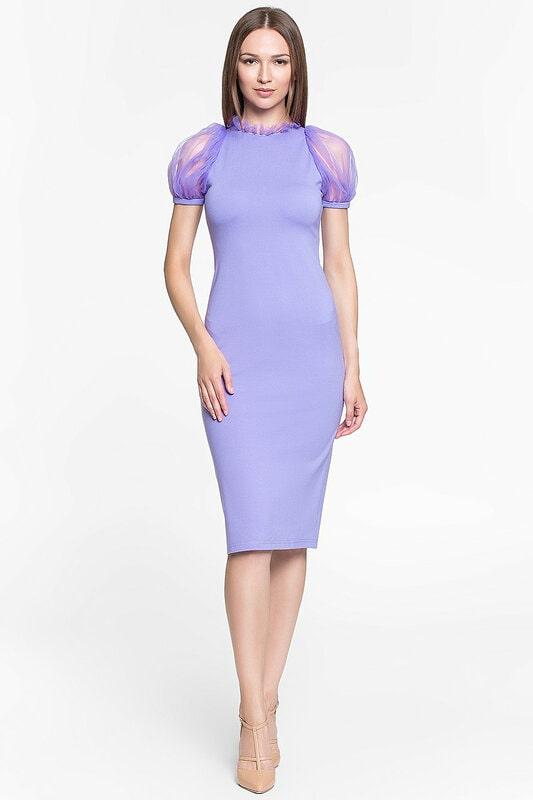 платье футляр с рукавом фонариком