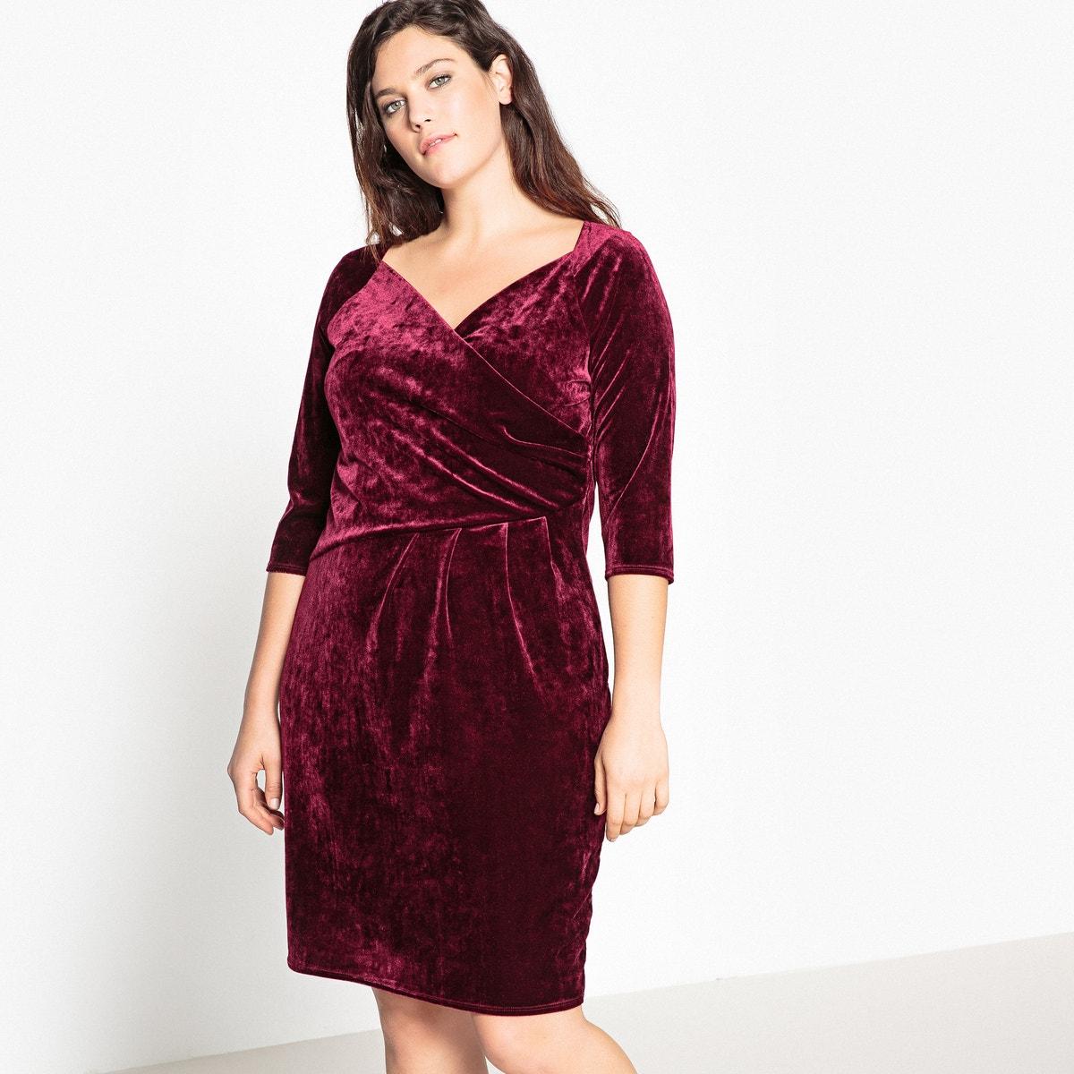 платье с запахом и драпировкой